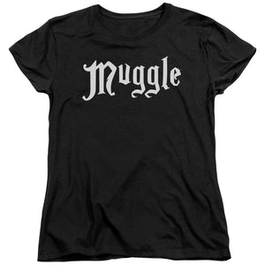 MUGGLE™ Women's Relaxed Fit Black Shirt