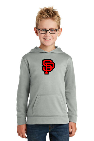 Sandy SP DriFit Youth Hoodie Silver