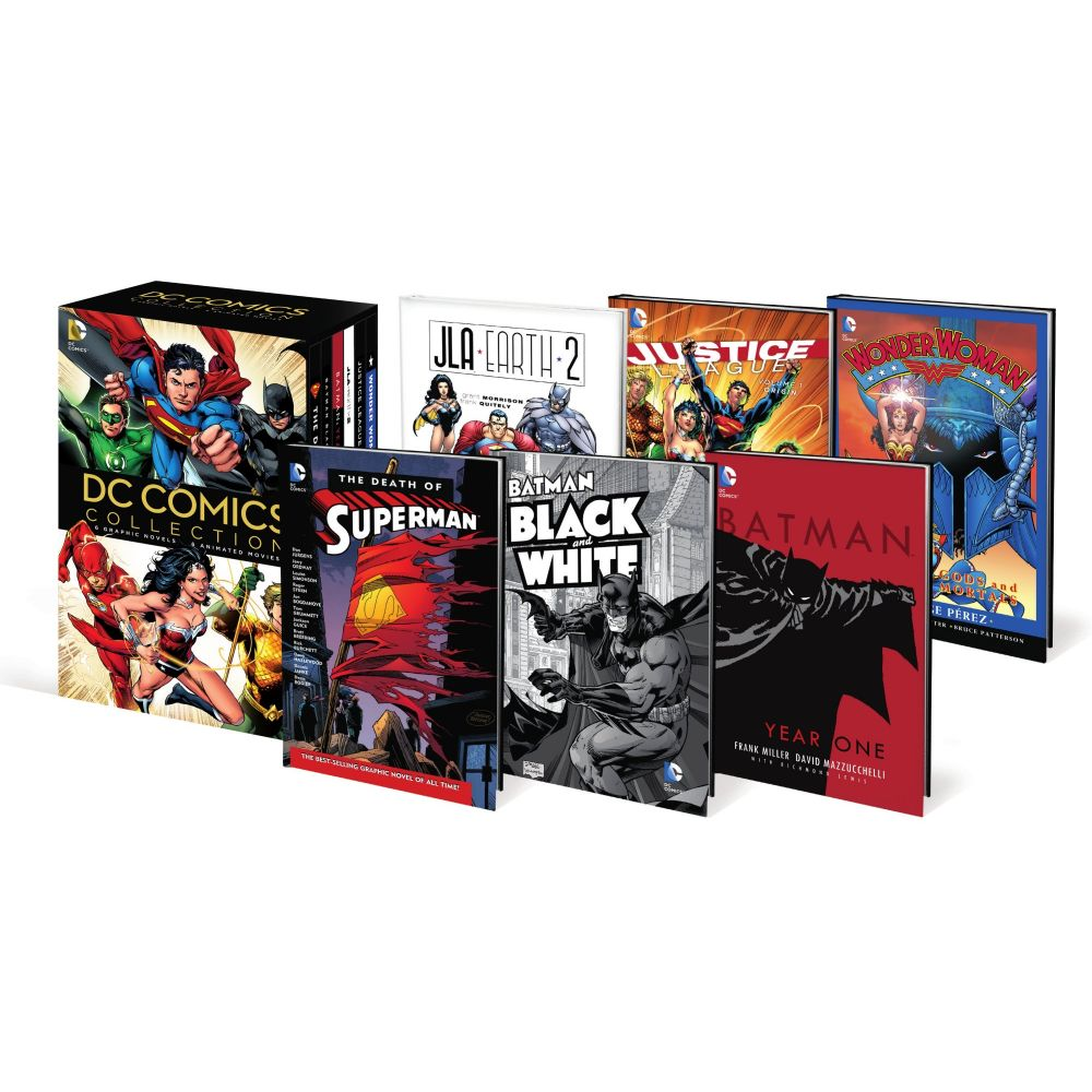 DC Comics Collection (6 Graphic Novels & 6 Animated Movies) (BD)