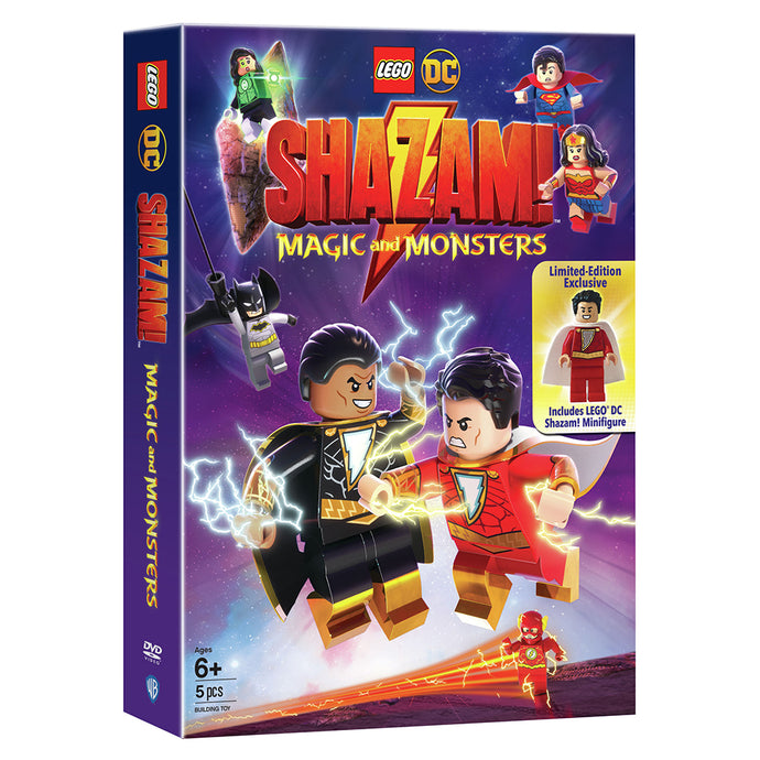 LEGO DC: Shazam: Magic and Monsters w/ Limited-Edition Exclusive LEGO DC Shazam! Minifigure (DVD)