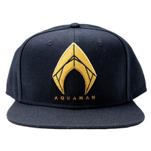 Justice League Movie Aquaman Logo Embroidered Snapback Hat