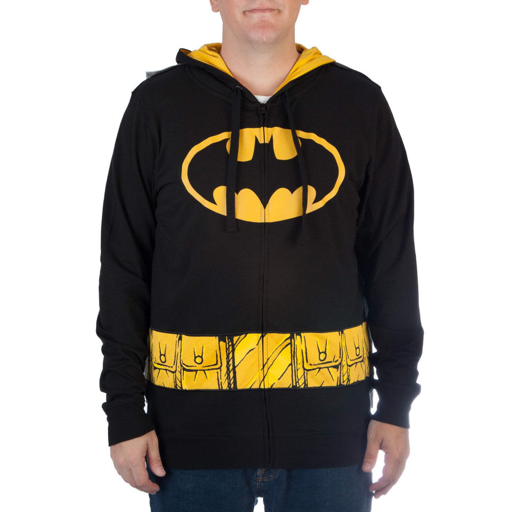 Batman Zipper Hoodie with Ears & Cape
