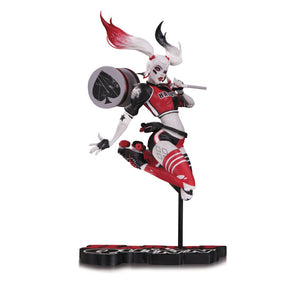Harley Quinn Red, White & Black by Babs Tarr Statue