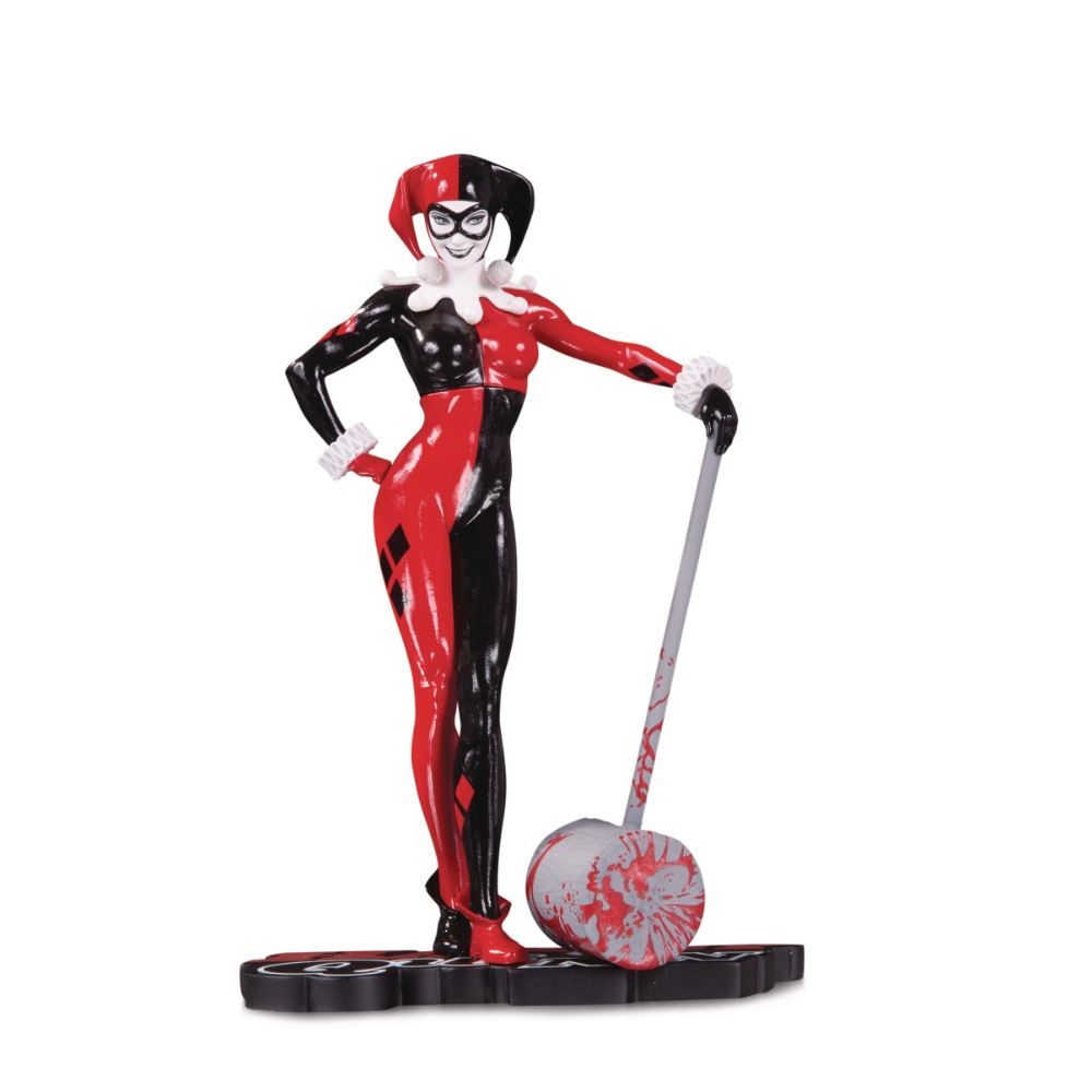 Harley Quinn Red, White & Black by Adam Hughes Statue