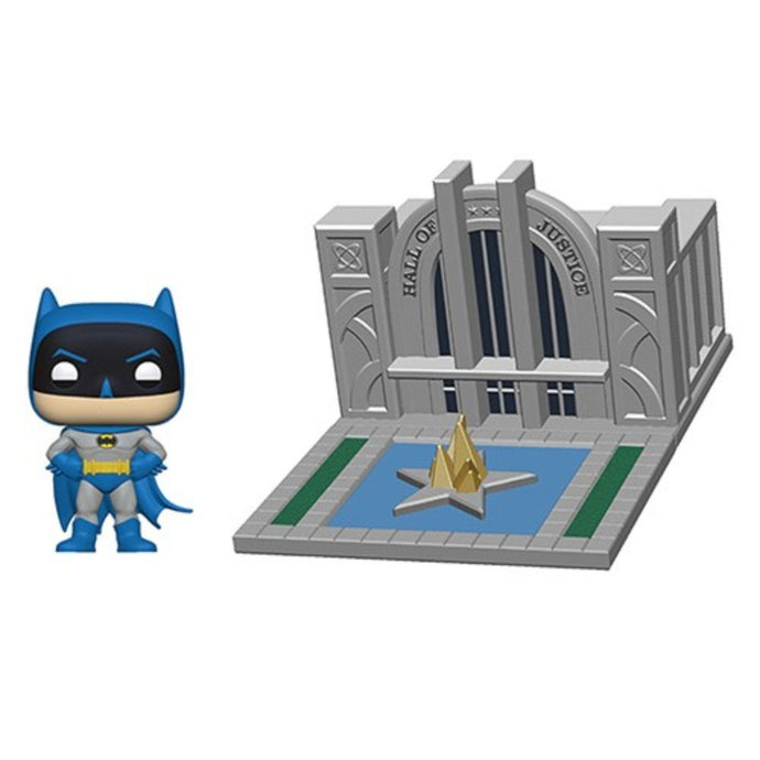 Batman 80th Hall of Justice & Batman Funko Pop! Town Vinyl Figures