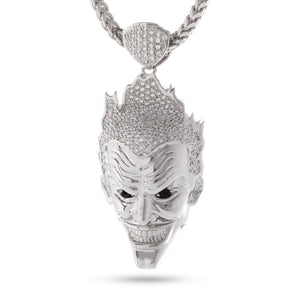 Additional image of The Joker 3D White Gold Necklace