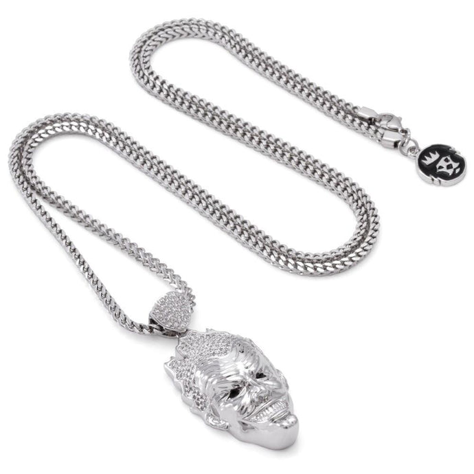 The Joker 3D White Gold Necklace