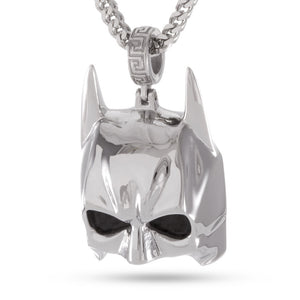 Additional image of Batman Mask White Gold Necklace