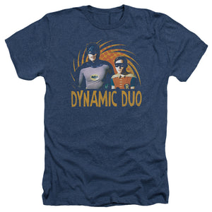 Batman Classic TV Series Dynamic Duo Heather T-shirt