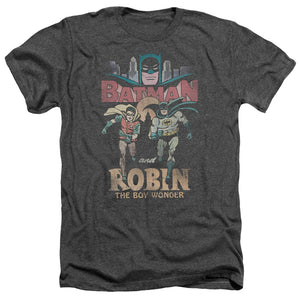 Batman Classic TV Series Classic Duo Heather T-shirt