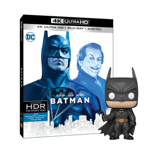 Batman (4K UHD) + Batman 80th - Batman (1989) Pop! Vinyl Figure