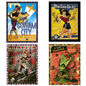 Bombshells Framed 3D Art Set of 4