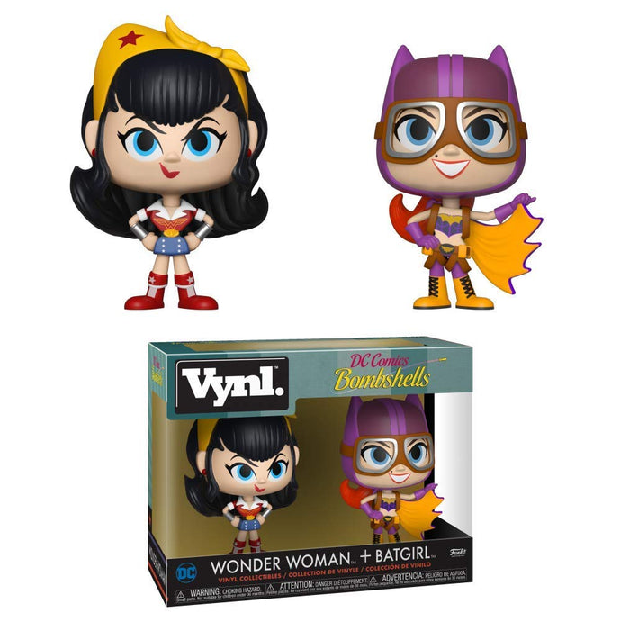 DC Bombshells Wonder Woman + Batgirl Vynl. Figure 2-Pack