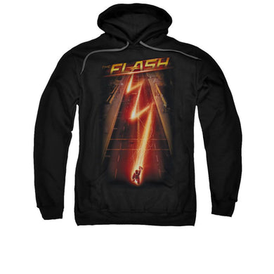 The Flash TV Series Bolt Adult Black Hoodie