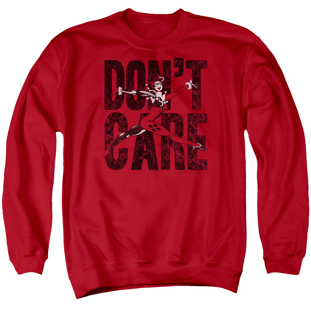 Harley Quinn Don't Care Crewneck Sweatshirt