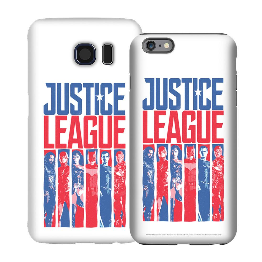 Justice League Movie Red, White & Blue Heroes Phone Case