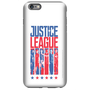 Additional image of Justice League Movie Red, White & Blue Heroes Variant White Phone Case