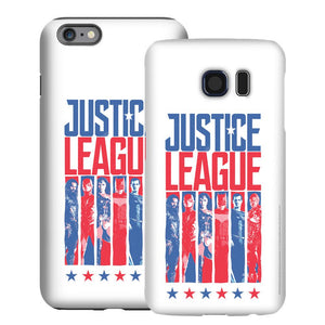 Justice League Movie Red, White & Blue Heroes Variant White Phone Case