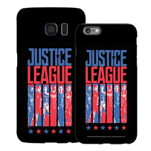 Justice League Movie Blue & Red Heroes Black Phone Case