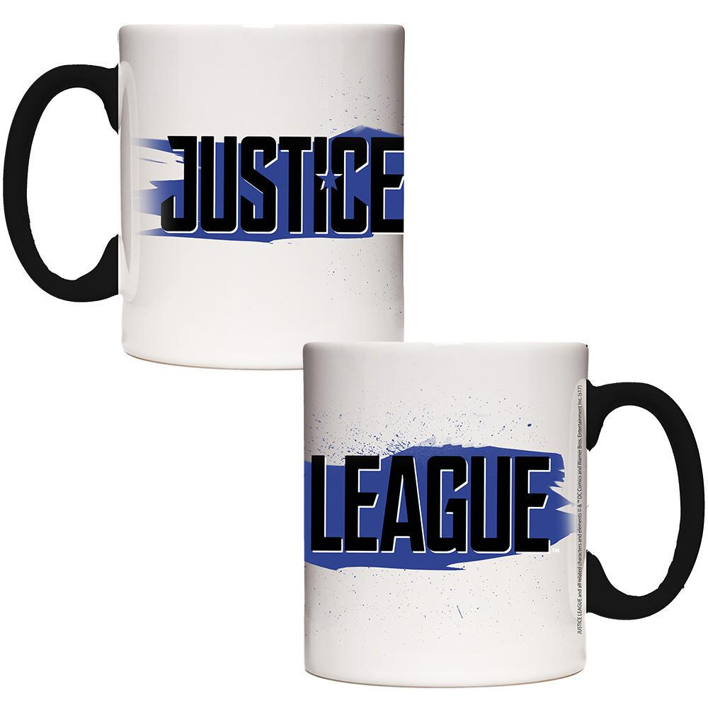 Justice League Movie Black & Blue Logo Transforming Mug