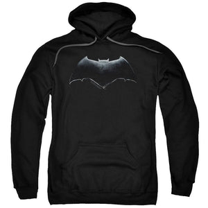Justice League Movie Batman Logo Adult Black Hoodie