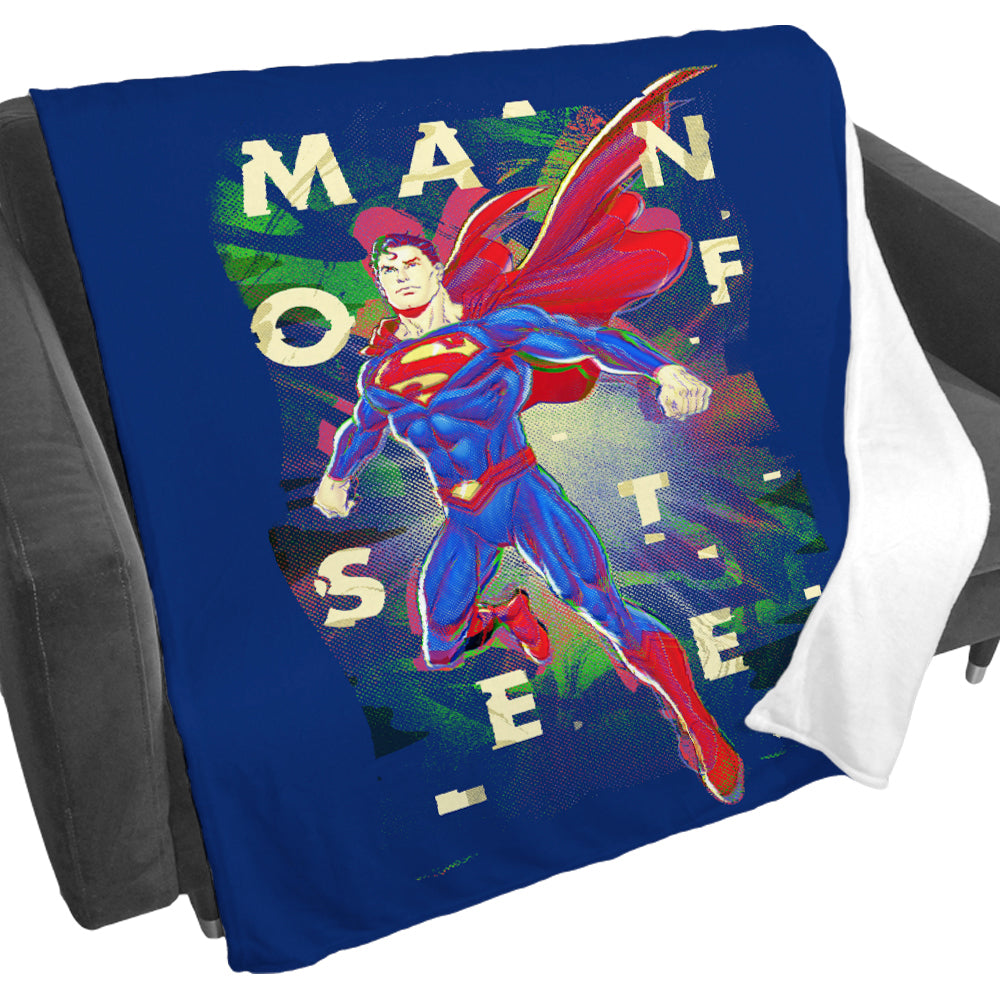 Man of Steel Fleece Blanket