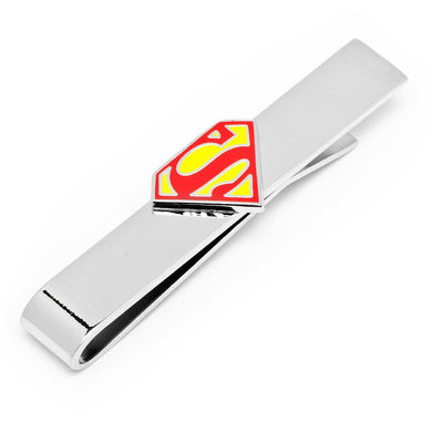 Superman Shield Silver-plated and Enamel Tie Bar