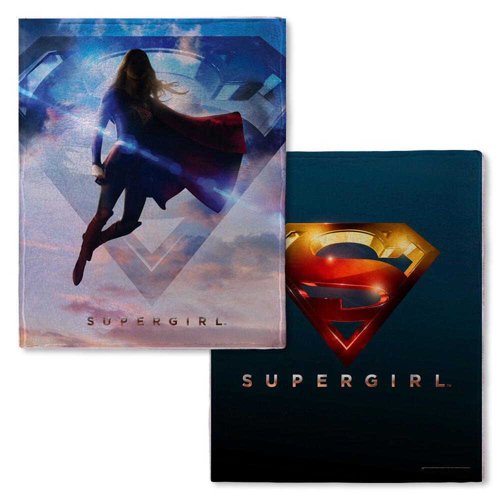 Supergirl TV Series Logo Fleece Throw Blanket