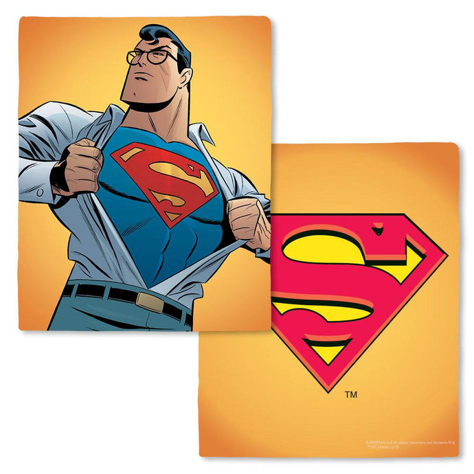 Superman: The Animated Series Super Logo Fleece Throw Blanket