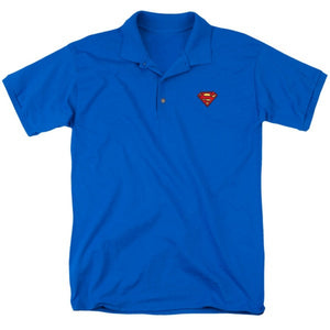 Superman Embroidered Logo Men's Polo Shirt
