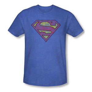 Superman Logo Adult Premium Deep Sea Heather T-shirt
