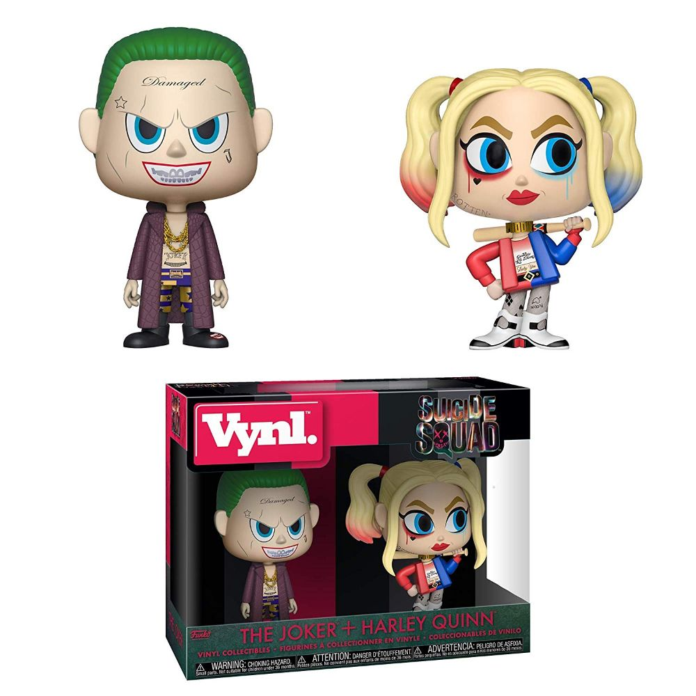 Suicide Squad The Joker + Harley Quinn Vynl. Figure 2-Pack