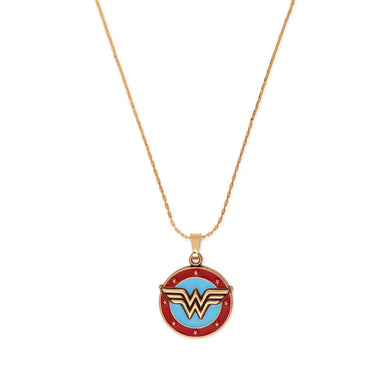 ALEX AND ANI Wonder Woman Logo Gold Expandable Necklace
