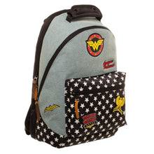 Additional image of Wonder Woman Denim Backpack with Patches