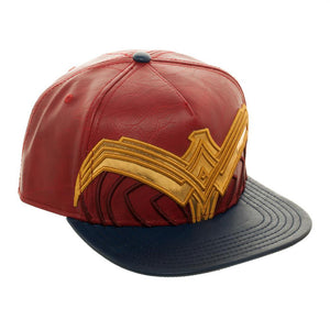 Additional image of Wonder Woman Movie Suit Up Applique Faux Leather Hat