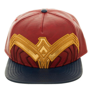 Wonder Woman Movie Suit Up Applique Faux Leather Hat