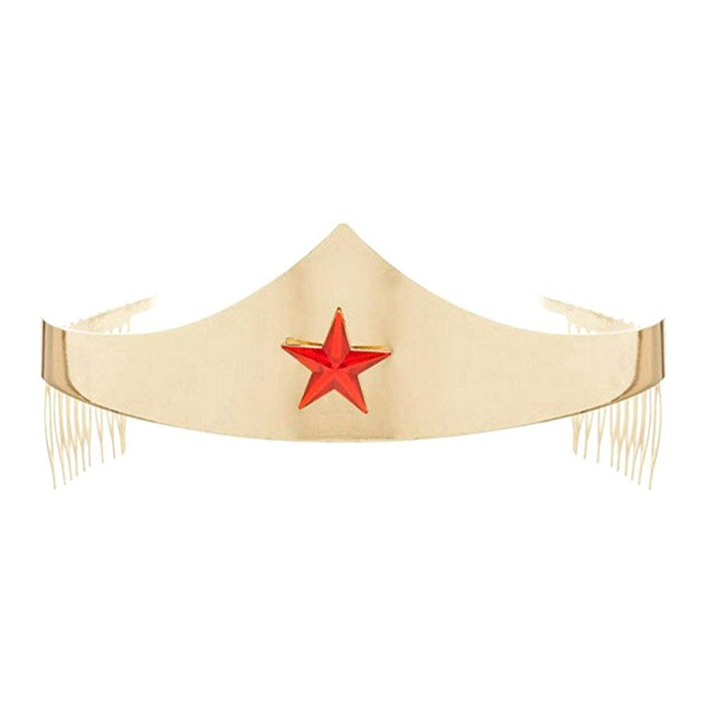 Wonder Woman Gold Tiara with Red Gem Star