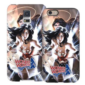 Wonder Woman 75th Anniversary Black Comic Cover Phone Case for iPhone and Galaxy
