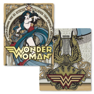 Wonder Woman Goddess Statue Fleece Throw Blanket