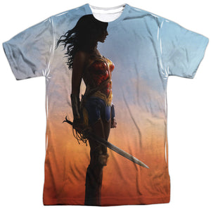 Additional image of Wonder Woman Movie Poster Adult Sublimated T-Shirt