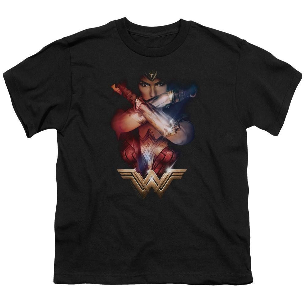 Wonder Woman Movie Power Youth Black T-Shirt
