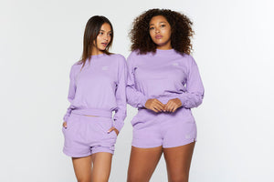 ESSENTIAL LONG SLEEVE MOCKNECK - LILAC