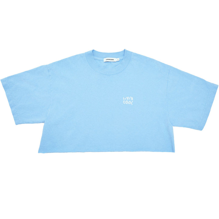 ESSENTIAL CROP TEE - SKY BLUE