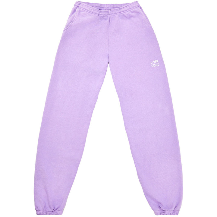 EMBROIDERED WAVY SWEATPANT - LILAC