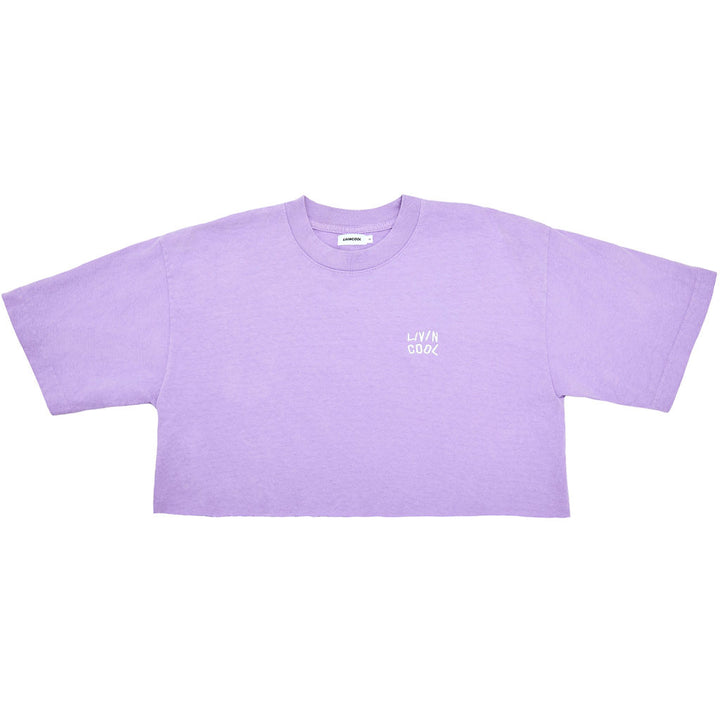 ESSENTIAL CROP TEE - LILAC