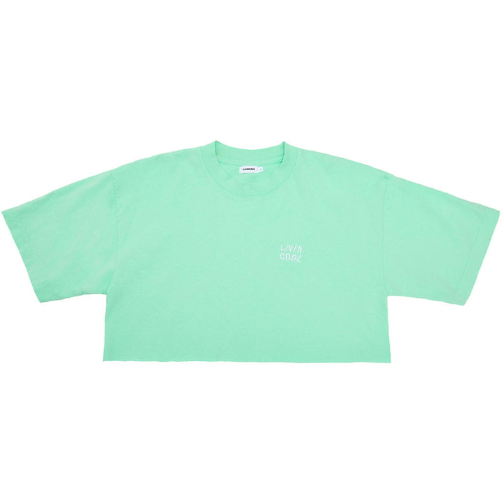 ESSENTIAL CROP TEE - MINT