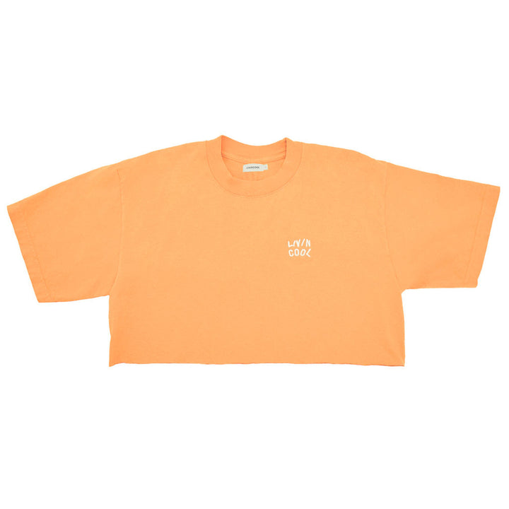 ESSENTIAL CROP TEE - ORANGE JULIUS