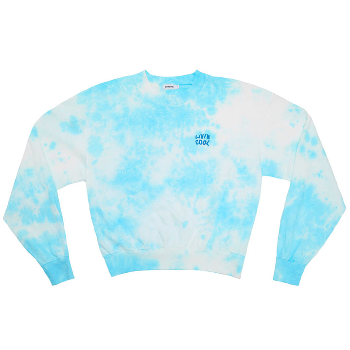 ESSENTIAL LONG SLEEVE MOCKNECK - SKY TIE DYE