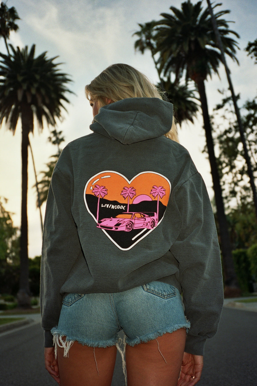 CALIFORNIA LOVE HOODIE - WASHED GREY