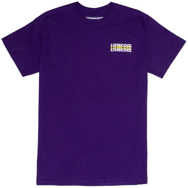 LIVINCOOL WORLD LOGO PURPLE T-SHIRT